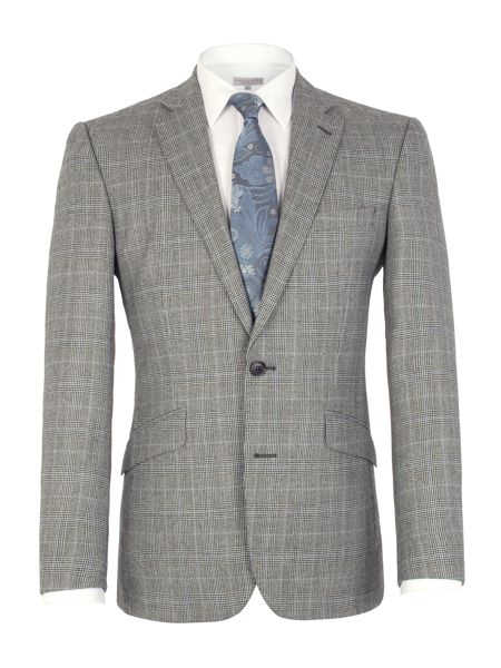 Alexandre of England Check Notch Collar Tailored Fit Suit