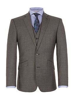 Stripe Notch Collar Tailored Fit Suit