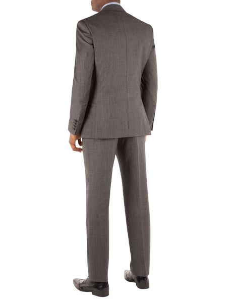 Alexandre of England Stripe Notch Collar Tailored Fit Suit