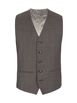 Striped Tailored Fit Waistcoat