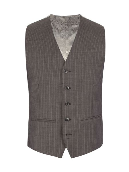 Alexandre of England Striped Tailored Fit Waistcoat