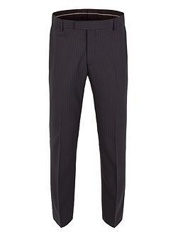Striped Hopsack Tailored Fit Suit Trousers