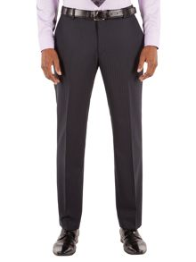 Striped Hopsack Tailored Fit Suit Trouser