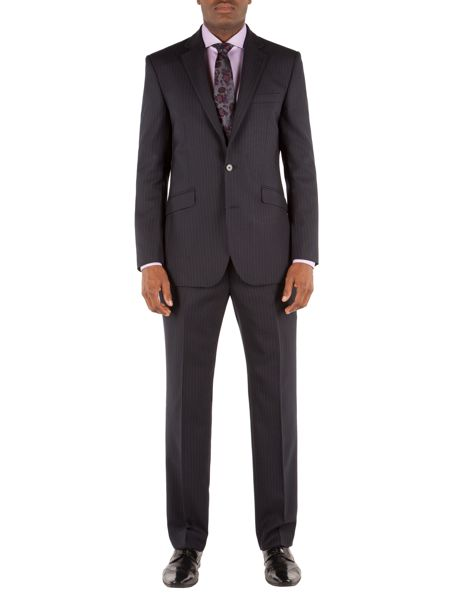 Alexandre of England Striped Hopsack Tailored Fit Suit Trousers