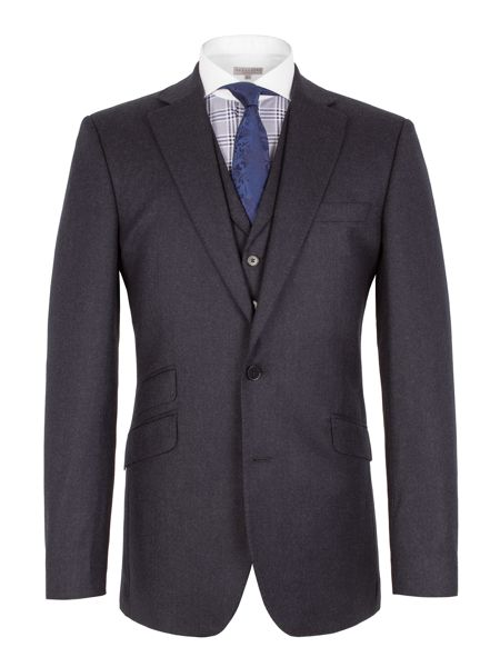Alexandre of England Plain Notch Collar Tailored Fit Suit Jacket