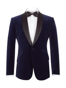 Formal Velvet Button Blazer