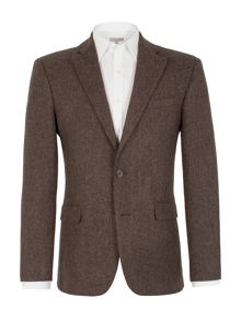 Formal Single Breasted Herringbone Blazer