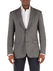 Formal Button Herringbone Blazer