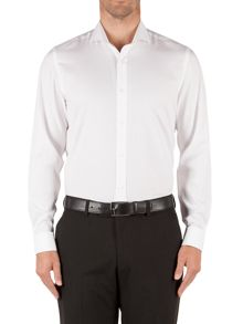 Newgate Plain Tailored Fit Long Sleeve Shirt