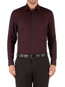 Barbican Textured Tailored Fit Long Sleeve Classi