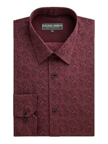Finsbury Print Tailored Fit Long Sleeve Classic C