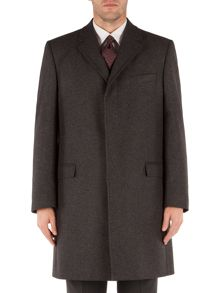 Herringbone Formal Button Overcoat