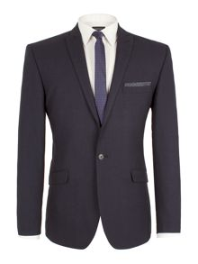 Limehaus Check Peak Collar Slim Fit Suit Jacket
