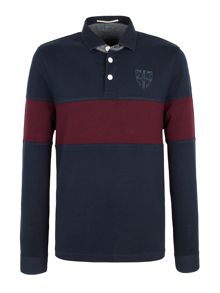 Garton chest stripe rugby shirt