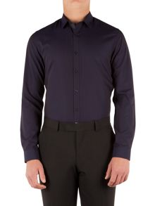 Limehaus Jacquard Slim Fit Long Sleeve Shirt