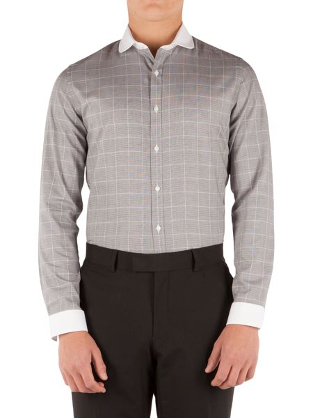 Limehaus Check Slim Fit Long Sleeve Round Collar Shirt