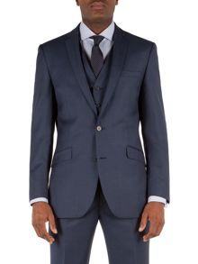 Notch Collar Tailored Fit Suit Jacket