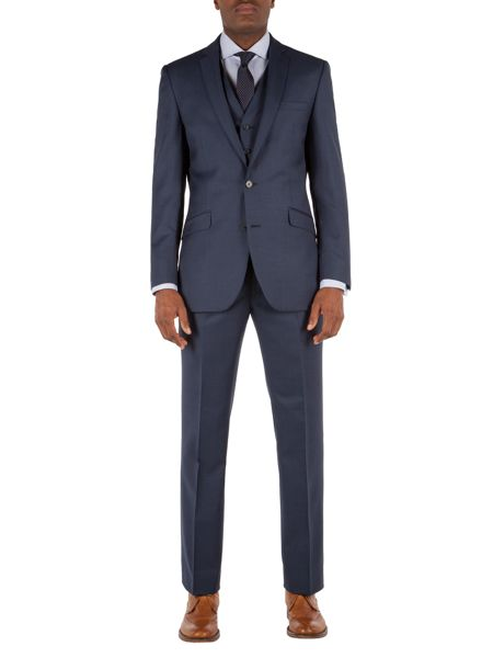 Racing Green Patterned Tailored Fit Suit Trousers