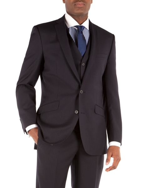 Racing Green Notch Collar Tailored Fit Suit Jacket
