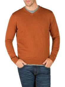 Malton merino v neck knit jumper