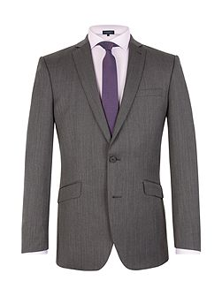 Men's Racing Green Herringbone Notch Collar Tailored Fit