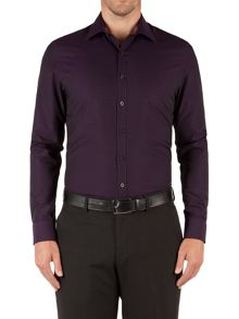 Jacquard Slim Fit Long Sleeve Shirt