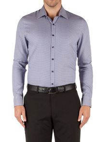 Alexandre of England Check Slim Fit Long Sleeve Classic Collar Shirt