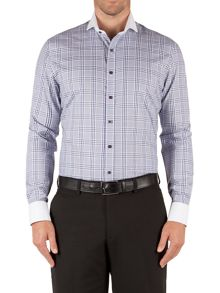Tailored Fit Long Sleeve Cutaway Collar Shirt