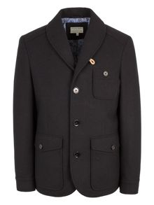 Barkston shawl collar coat