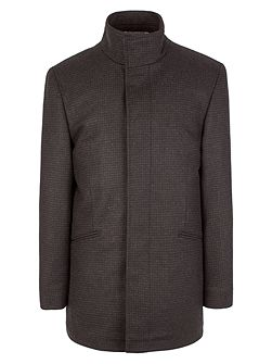 Formal Dogtooth Button Overcoat