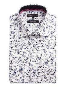 Print Tailored Fit Long Sleeve Shirt