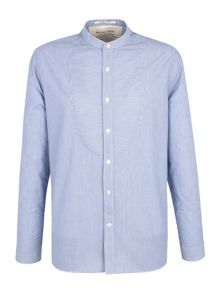 William stripe grandad collar shirt