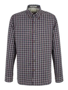Methley melange check shirt
