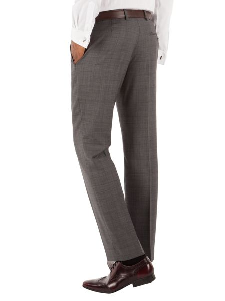 Racing Green Check Tailored Fit Suit Trousers