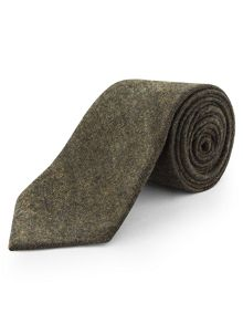 Loxley plain wool blend tie
