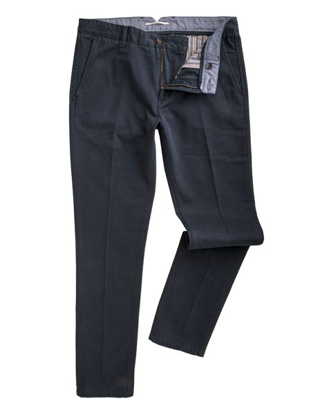 Racing Green Butler flat front twill chinos