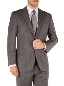Pierre Cardin Stripe Notch Collar Classic Fit Suit Jacket