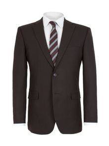 Stripe Notch Collar Classic Fit Suit Jacket