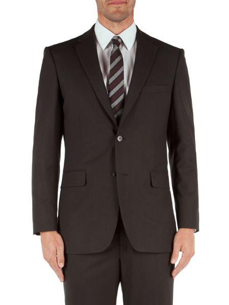 Aston & Gunn Stripe Notch Collar Classic Fit Suit Jacket