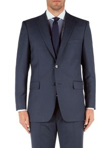 Plain Notch Collar Classic Fit Suit Jacket