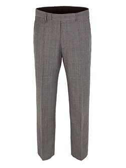 Check Classic Fit Suit Trousers