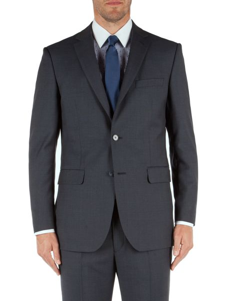 Aston & Gunn Check Notch Collar Classic Fit Suit Jacket