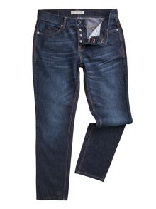 Racing Green Dean straight fit stone wash jeans