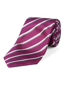 End on end stripe tie