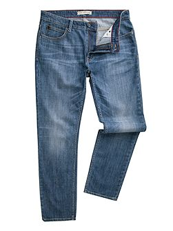 Men's Racing Green Marr slim fit blue wash