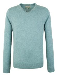 Plain V Neck Pull Over Jumpers