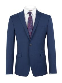 Plain Notch Collar Slim Fit Jacket