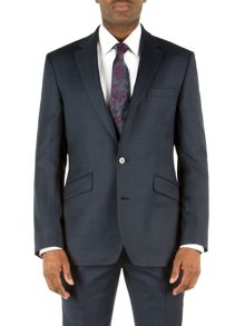 Check Notch Collar Tailored Fit Suit