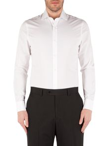 Alexandre of England Poplin Plain Slim Fit Long Sleeve Formal Shirt