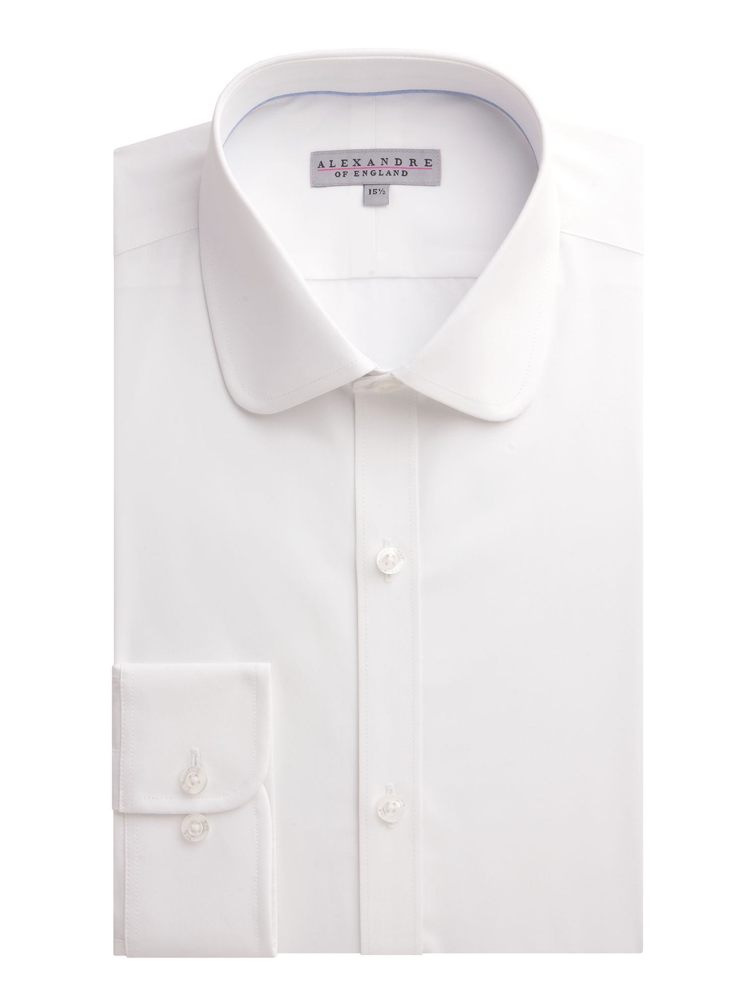 Mens Alexandre of England Poplin Plain Slim Fit Long Sleeve Formal Shirt $48.30 AT vintagedancer.com